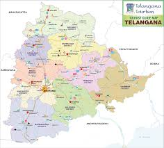 Hyderabad India Map by Telangana State Portal State Profile