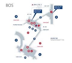 Incheon Airport Floor Plan Boston Logan Airport Terminal Map Bos Delta Air Lines