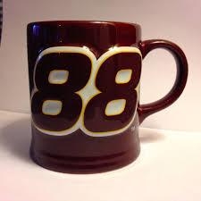 dale jarrett number 88 ups yates racing nascar coffee mug brown