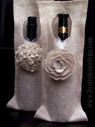 Inexpensive Hostess Gifts Make A No Sew Felt Wine Bag Wrap An Inexpensive Hostess Gift