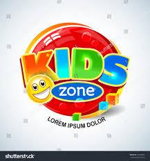 kids zone vector banner cartoon style stock vector 721860856