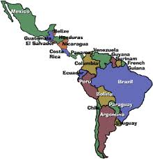 map of central and south america with country names a country of immigrants task