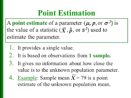 estimate sample chapter 7 estimates confidence intervals and sample sizes ppt