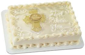 Sheet Cake Decoration Herman U0027s Bakery And Deli Christening Decorated Cake Galley