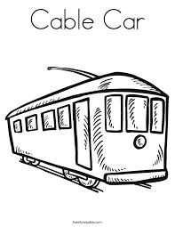 cable car coloring twisty noodle