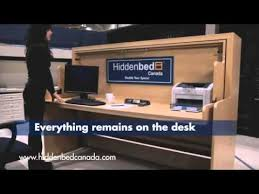 hiddenbed canada unique 2 in 1 desk bed better than a murphy bed
