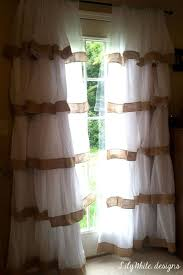 Burlap Ruffle Curtain Curtain Burlap And Velvet Curtains Best Ideas On Pinterest Window