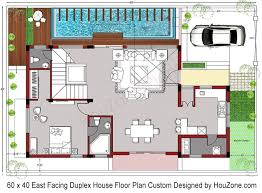 house plans by lot size duplex house plan for 60 x 40 plot size houzone