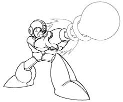random mega man coloring pages mewarnai megaman pinterest