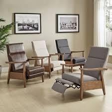 brayden mid century wood arm recliner by inspire q modern free