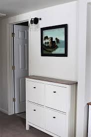 ikea hack shoe cabinet ikea shoe cabinet hack as faux built in hallway storage stow tellu