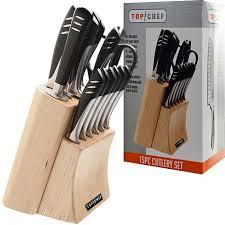 top kitchen knives set top chef 15 knife set 6554718 hsn