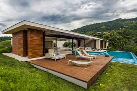 sustainable modern country home in colombia drawing in the