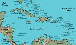 World Map With Seas by Caribbean Sea Map Caribbean Country Map Caribbean Map With