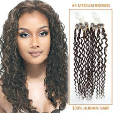 curly hair extensions inch 4 medium brown curly micro loop human hair extensions 100s 100g