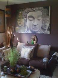 asian style home decor living room with wall hanging pictures and