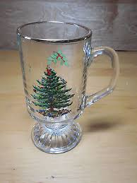 spode glassware tree s3324 pattern large glass salad