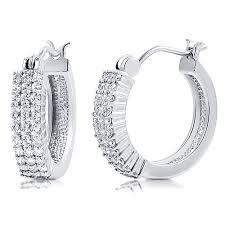 types of earrings for women silver hoop earrings for women iwajewelry