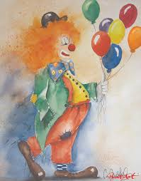 clown balloon l 73 best peinture clowns images on clowns jokers