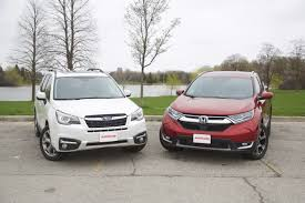 subaru forester old model 2017 honda cr v vs 2017 subaru forester autoguide com news