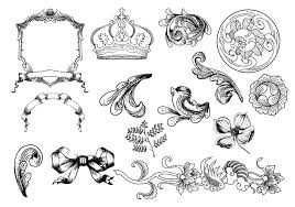 etched ornament brush pack two free photoshop brushes at brusheezy