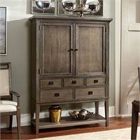Mirrored Bar Cabinet American Drew Lynn Haven 2 Door Wood Bar Cabinet In White 416 891