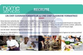 formateur en cuisine urgent recherche un chef cuisinier formateur offres d emploi