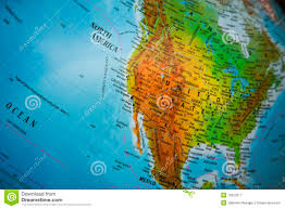 Physical Map Of Central America by North America Physical Map Royalty Free Stock Photography Image