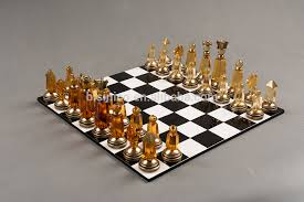 decorative chess set imperial crystal brass chess sets clear gold noble international
