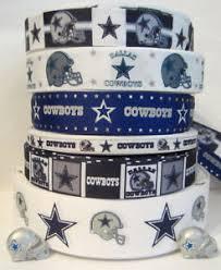 dallas cowboy ribbon grosgrain dallas cowboys ribbon lot 6 yards flat back resins
