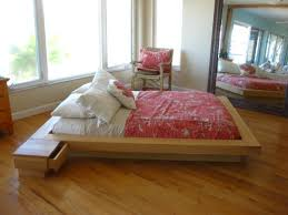 Platform Bed No Headboard Furniture King Platform Bed Frame With 6 Drawers Without