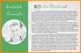 6 biographical sketch sample model resumed