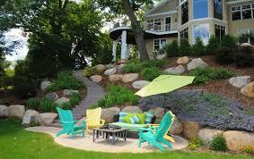 Sloped Backyard Landscape Ideas 18 Latest Backyard Landscaping Designs Ideas Design Trends