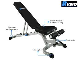 Good Workout Bench Ryno Power Rack Squat Cage Weight Bench Combo Package Machine