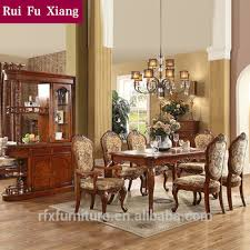 Fabric Chairs For Dining Room Federal Style Sectional Dining Table With Fabric Chairs For Dining
