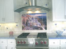 kitchen mural backsplash backsplash designs tuscan waterview tiles view of santorini