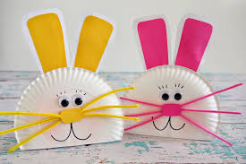 paper crafts paper plate bunny craft