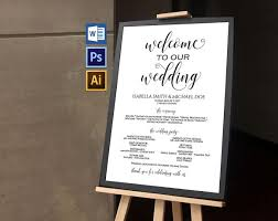wedding program sign wedding program sign wpc376 invitation templates creative market