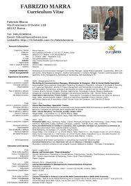 Beginners Cv Fabrizio Marra Curriculum Vitae 2013 Europass It