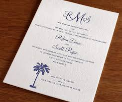 palm tree wedding invitations palm tree motifs for summer weddings letterpress wedding
