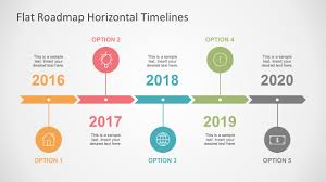 ppt timeline template flat roadmap horizontal timelines for powerpoint