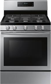 Clean Stainless Steel Cooktop Samsung 5 8 Cu Ft Self Cleaning Freestanding Gas Convection