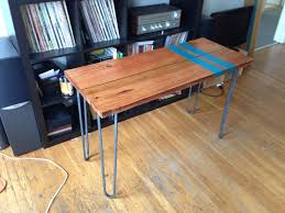 hairpin leg table diy tutorial rustic dining table with hairpin