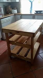 diy hand built pallet kitchen island pallet kitchen island