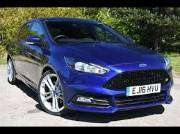 used ford focus st3 used ford focus 2 0t ecoboost st 2 5dr impact blue 2016