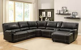 furniture lovely home u003e living room u003e reclining sectional black