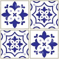 tiles pattern spanish or portuguese tile blue background geometric