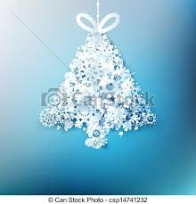 vectors of tree made from paper snowflakes eps 10