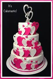 a cascade of hearts for a very romantic wedding the four tiers