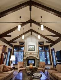 Decorating Rooms With Cathedral Ceilings Lighting For Vaulted Ceilings Living Room Traditional With Wall